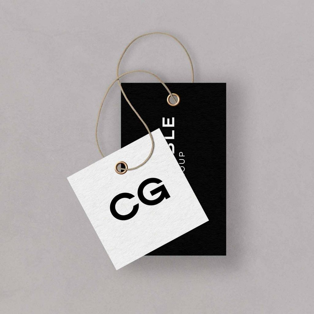 Credible Group logo and tag black and white brand