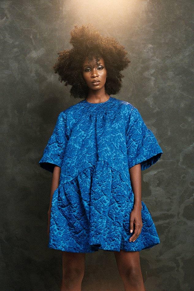 franceline graham inspiration blue dress photo shoot lighting