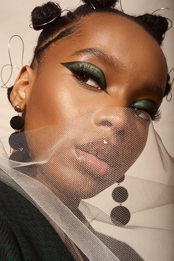 franceline graham inspiration mesh portrait editorial