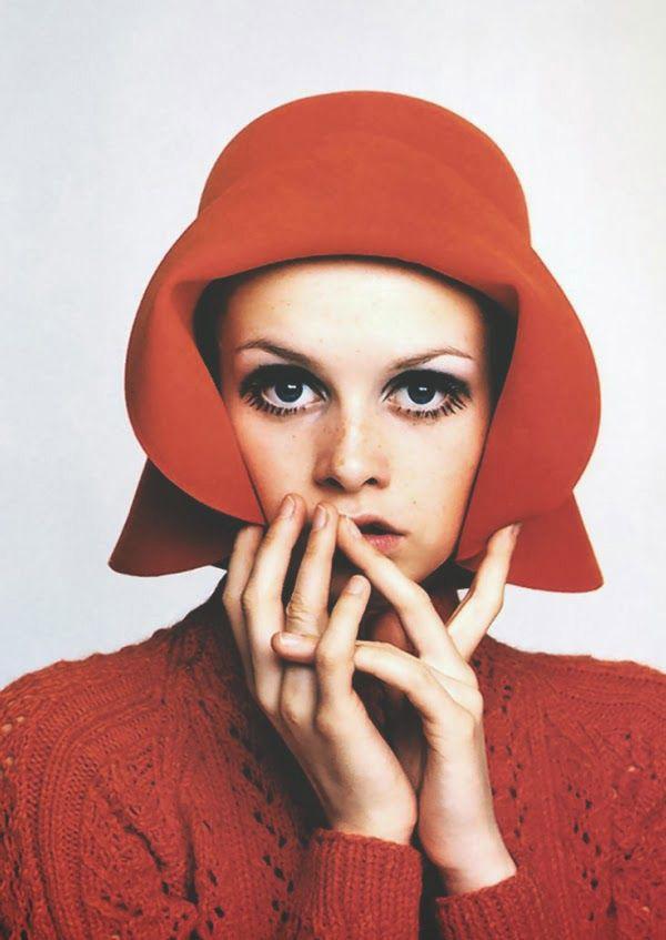 twiggy artist red hat facial shot franceline graham inspiration