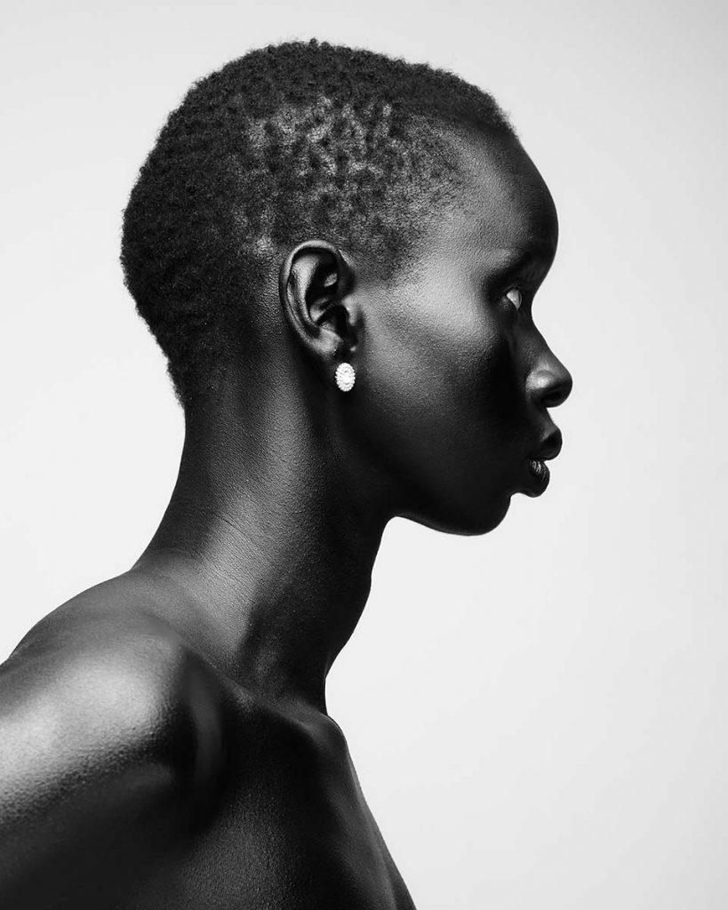 Franceline Graham inspiration black and white side profile