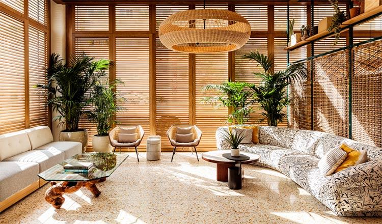 Melanee Shale inspiration wood airy lobby