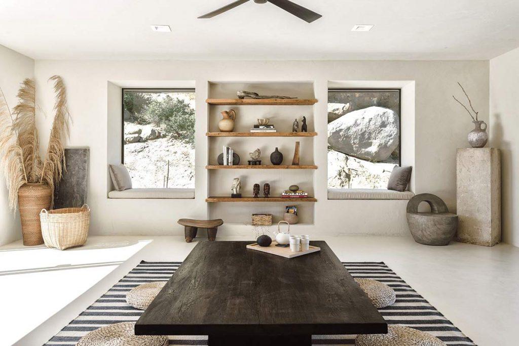 Melanee Shale inspiration art deco neutral natural tones brown grey western