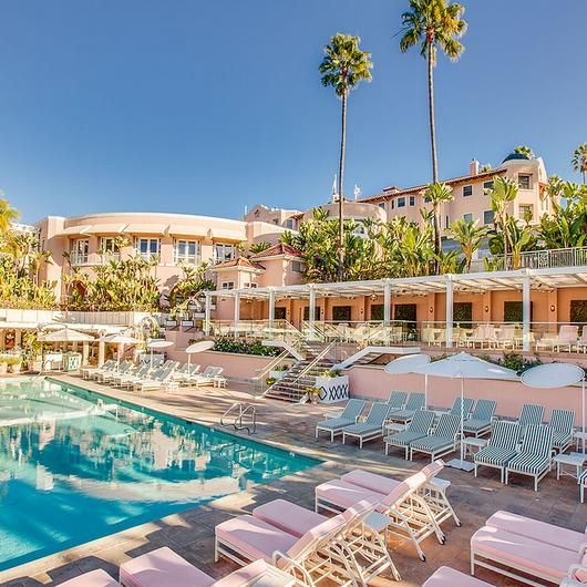 Melanee Shale inspiration beverly hills vacation pink sunny pool outdoor