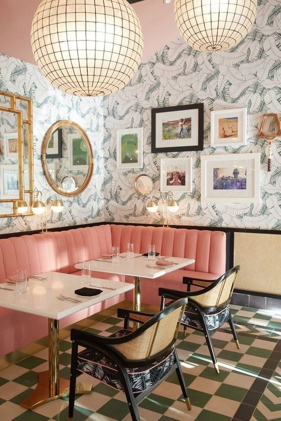 Melanee Shale inspiration pink room style print artsy vibrant restaurant