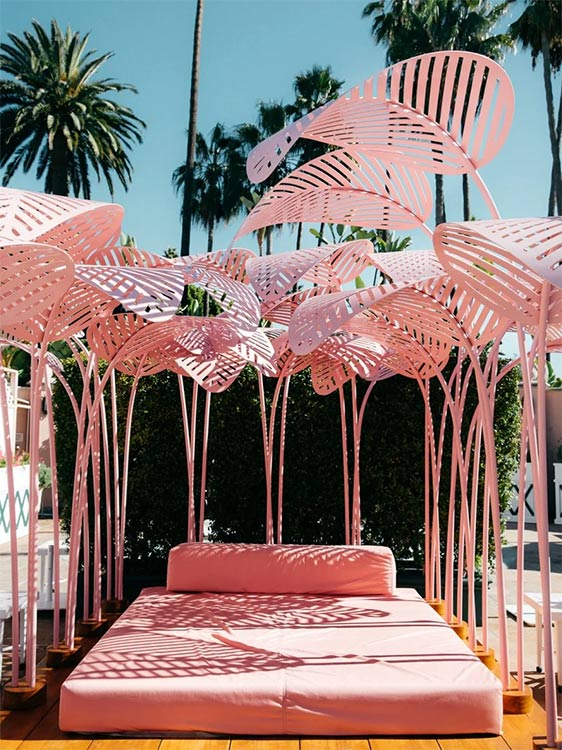 Melanee Shale inspiration pink bed flamingo inspired shaded vacation warm trip