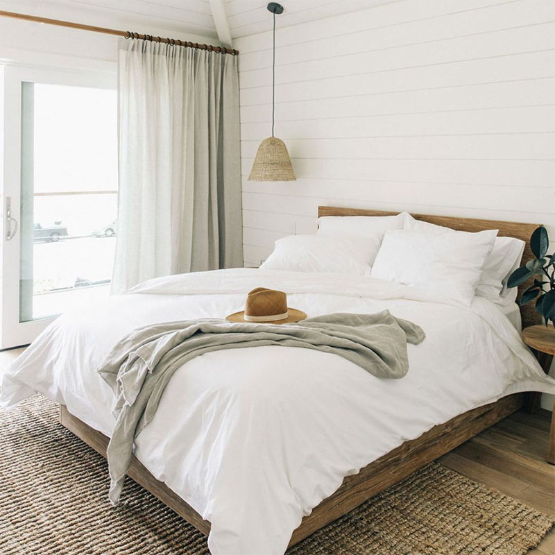 Melanee Shale inspiration minimalist clean white bedroom beach outdoor