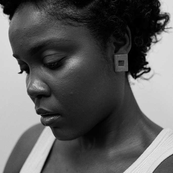 franceline graham black and white portrait