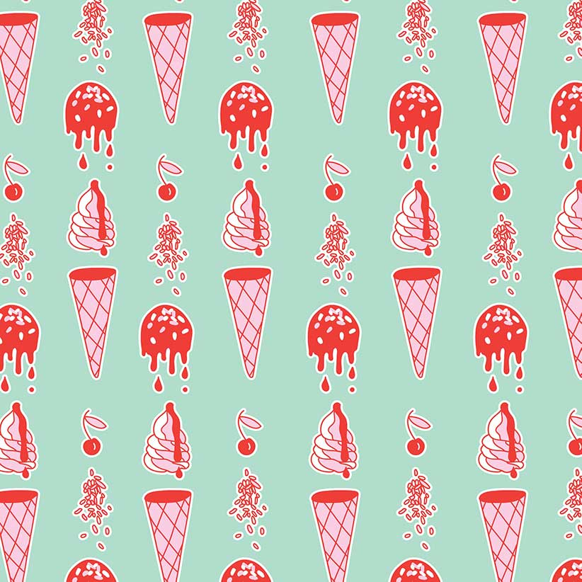 dripping ice cream graphic background Kirsty Campbell inspiration