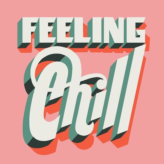 feeling chill 3d graphic Kirsty Campbell inspiration